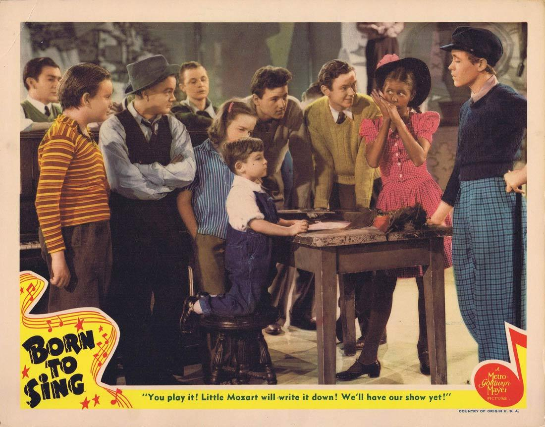 BORN TO SING Lobby Card 3 Virginia Weidler Leo Gorcey Ray McDonald