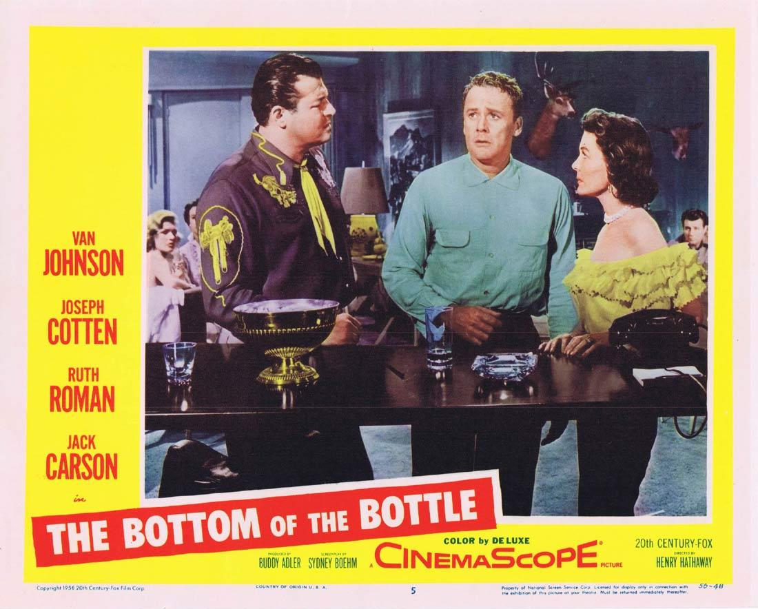 THE BOTTOM OF THE BOTTLE Lobby Card 5Joseph Cotten Ruth Roman Van Johnson