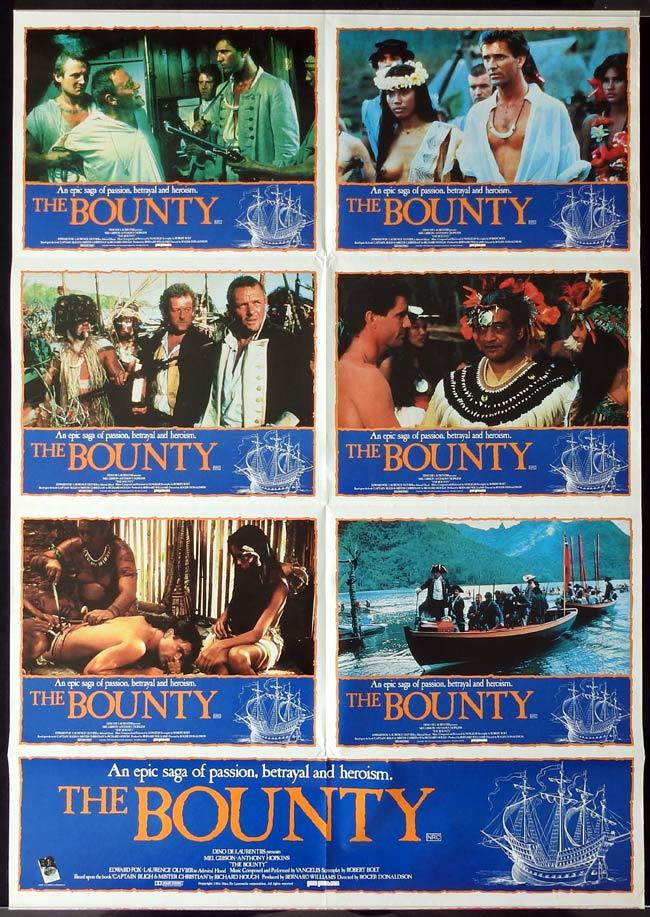 THE BOUNTY Australian Photo Sheet Movie poster Mel Gibson Anthony Hopkins
