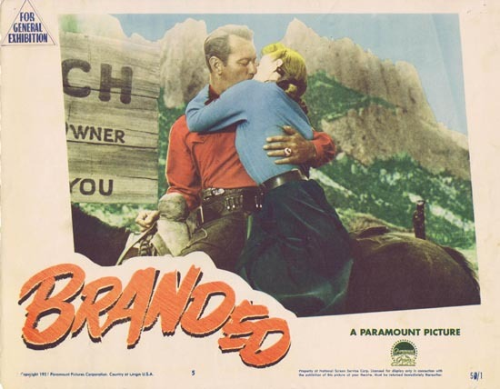 BRANDED 1950 Alan Ladd Lobby card 5