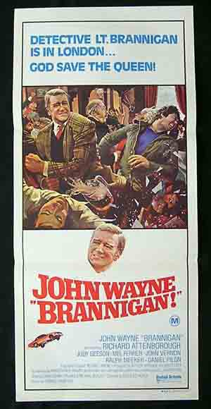 BRANNIGAN Daybill Movie poster John Wayne