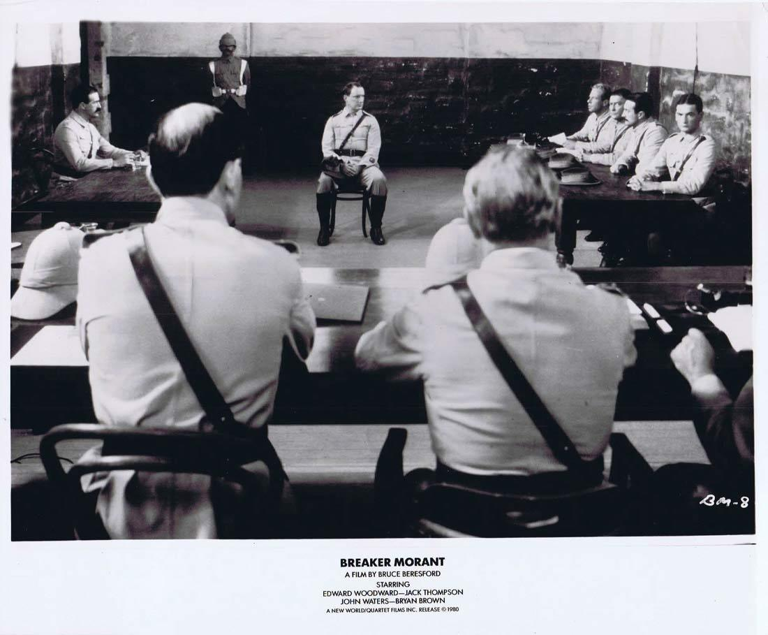 BREAKER MORANT Movie Still 1 Edward Woodward Bryan Brown Jack Thompson John Waters