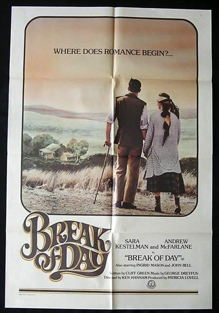 BREAK OF DAY Movie Poster 1976 RARE One Sheet Australian Film