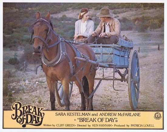 BREAK OF DAY Lobby Card 4 1976 RARE Australian Film