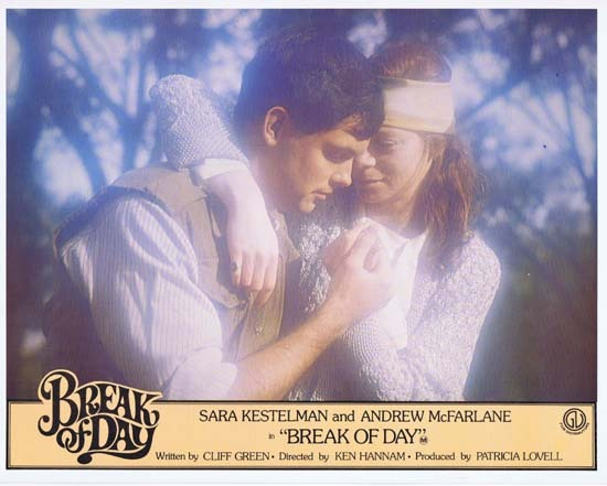 BREAK OF DAY Lobby Card 5 1976 RARE Australian Film