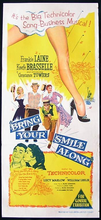 BRING YOUR SMILE ALONG Original Daybill Movie Poster Frankie Laine