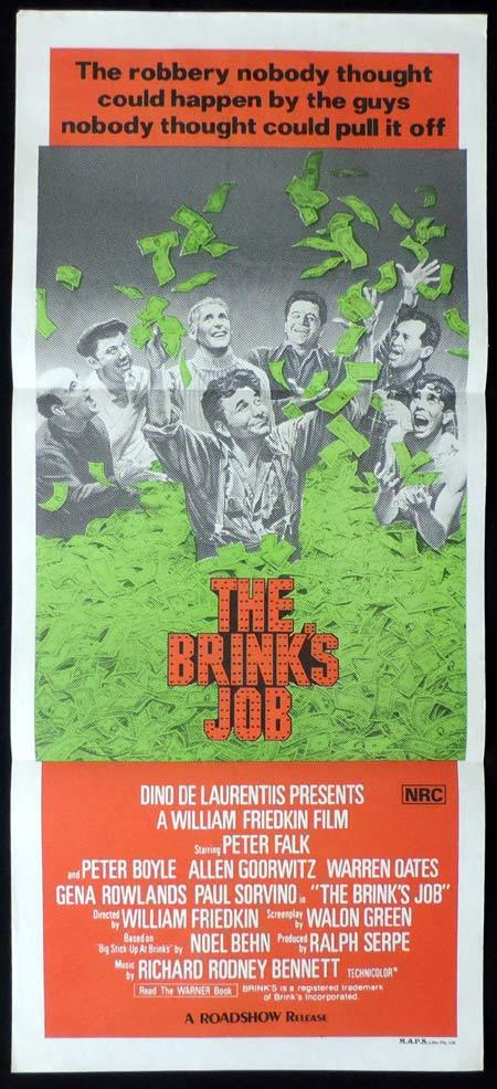 THE BRINKS JOB Original Daybill Movie Poster Peter Falk Warren Oates