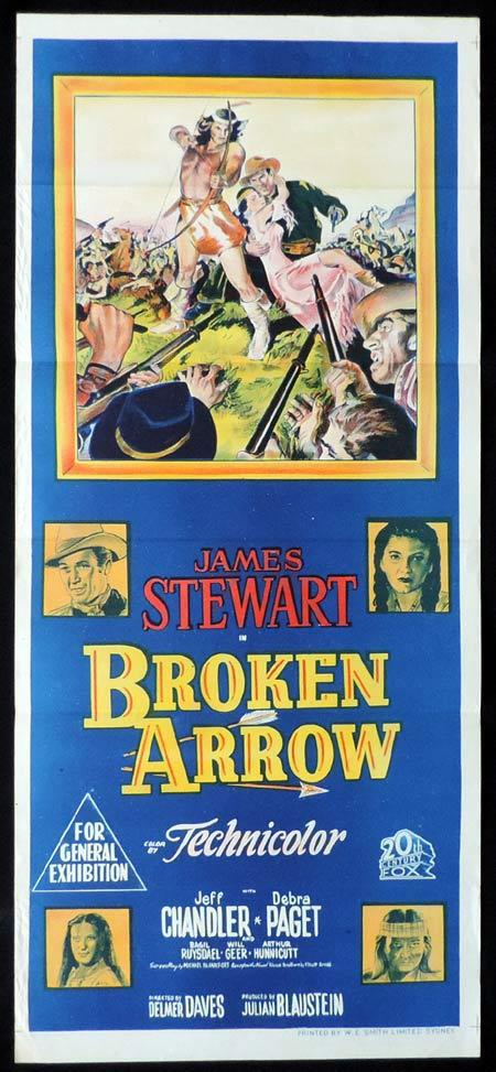 BROKEN ARROW Original Daybill Movie Poster James Stewart