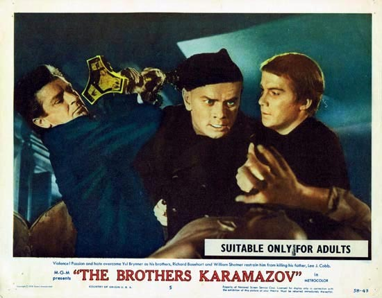 THE BROTHERS KARAMAZOV 1958 Lobby Card 5 Yul Brynner