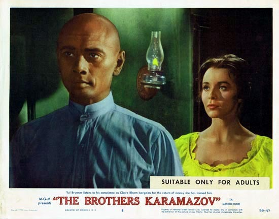 THE BROTHERS KARAMAZOV 1958 Lobby Card 8 Yul Brynner