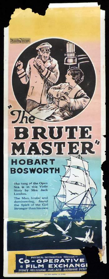 THE BRUTE MASTER Long Daybill Movie poster 1920 Hobart Bosworth