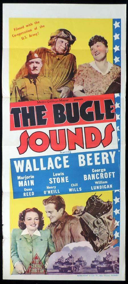 THE BUGLE SOUNDS Original Daybill Movie Poster Marjorie Main Marchant Graphics