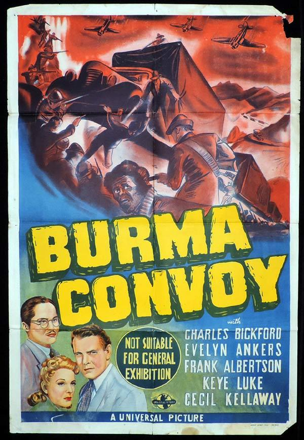 BURMA CONVOY One Sheet Movie Poster Charles Bickford