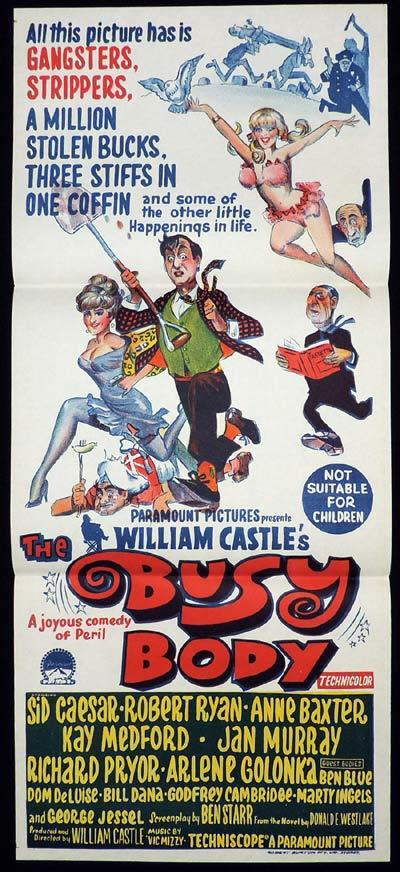 THE BUSY BODY Daybill Movie poster Sid Caesar