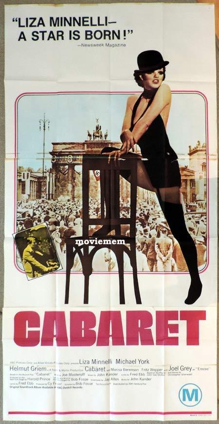 CABARET Original 3 Sheet Movie Poster Liza Minnelli