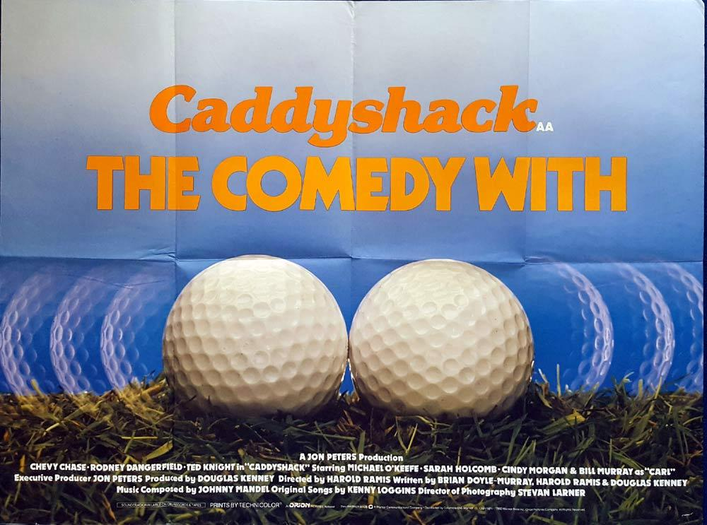 CADDYSHACK British Quad Movie poster GOLF Chevy Chase