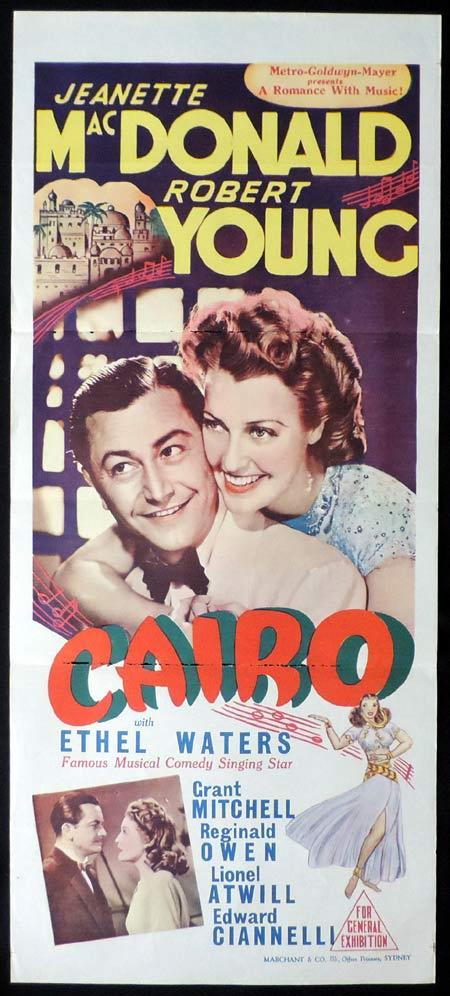 CAIRO Original Daybill Movie Poster Jeanette MacDonald Robert Young Marchant Graphics