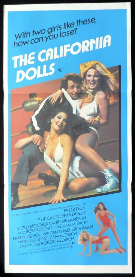 CALIFORNIA DOLLS Original Daybill Movie Poster All the Marbles Peter Falk