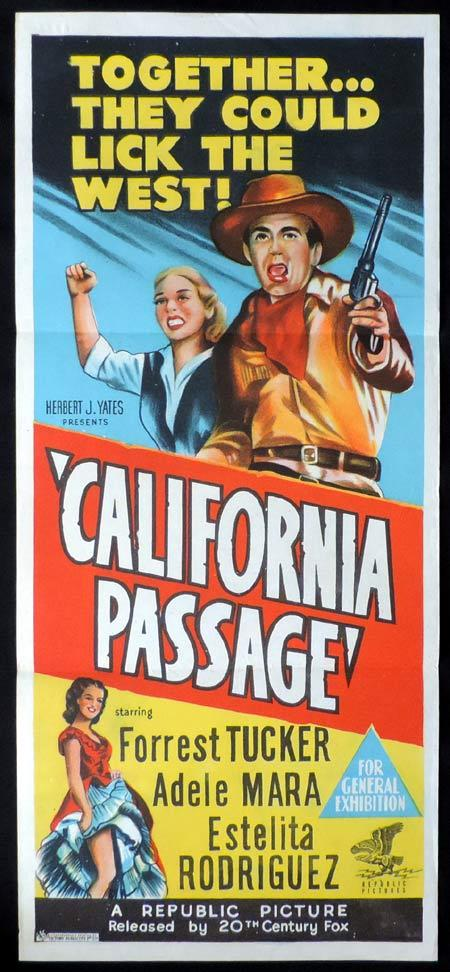 CALIFORNIA PASSAGE Original Daybill Movie Poster Forrest Tucker