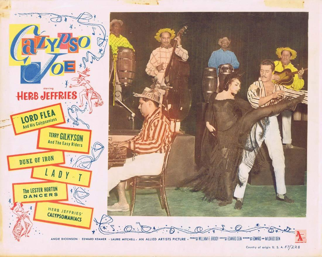 Calypso Joe, Herb Jeffries, Angie Dickinson, Ed Kemmer, Lord Flea and his Calypsonians