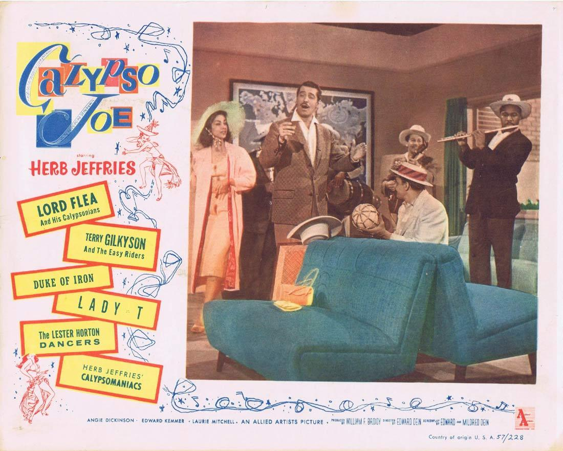CALYPSO JOE Lobby Card 4 Herb Jeffries Angie Dickinson