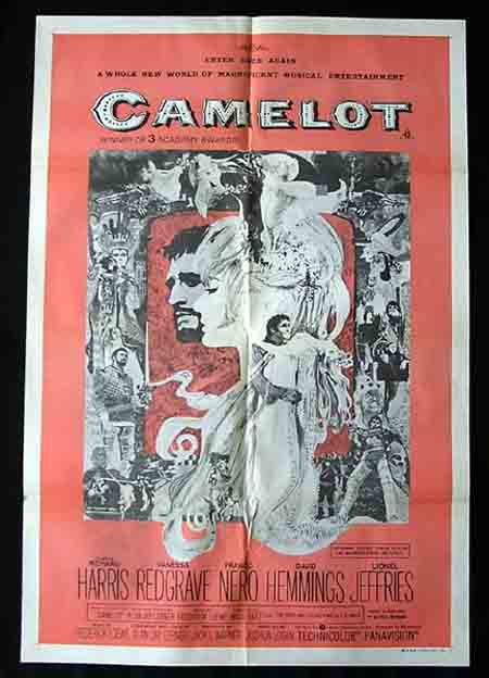 CAMELOT 1973r Richard Harris Vanessa Redgrave 1sh Movie poster