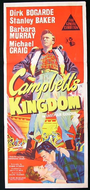 CAMPBELL'S KINGDOM Daybill Movie Poster Dirk Bogarde Stanley Baker