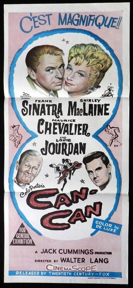 CAN CAN Original Daybill Movie Poster Frank Sinatra Shirley MacLaine