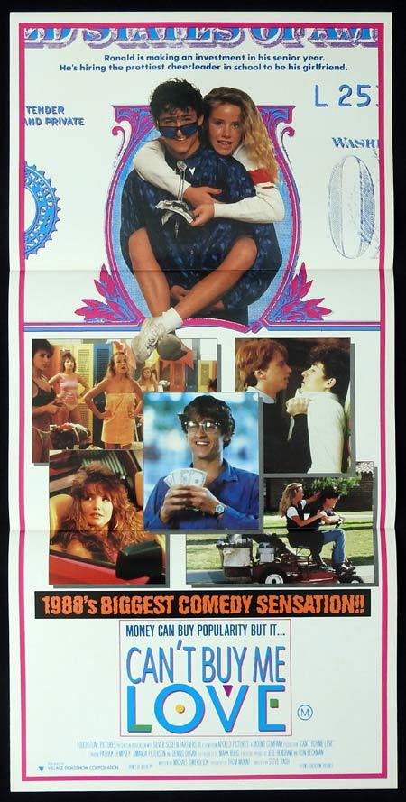 CAN'T BUY ME LOVE Original daybill Movie Poster Patrick Dempsey Amanda Peterson