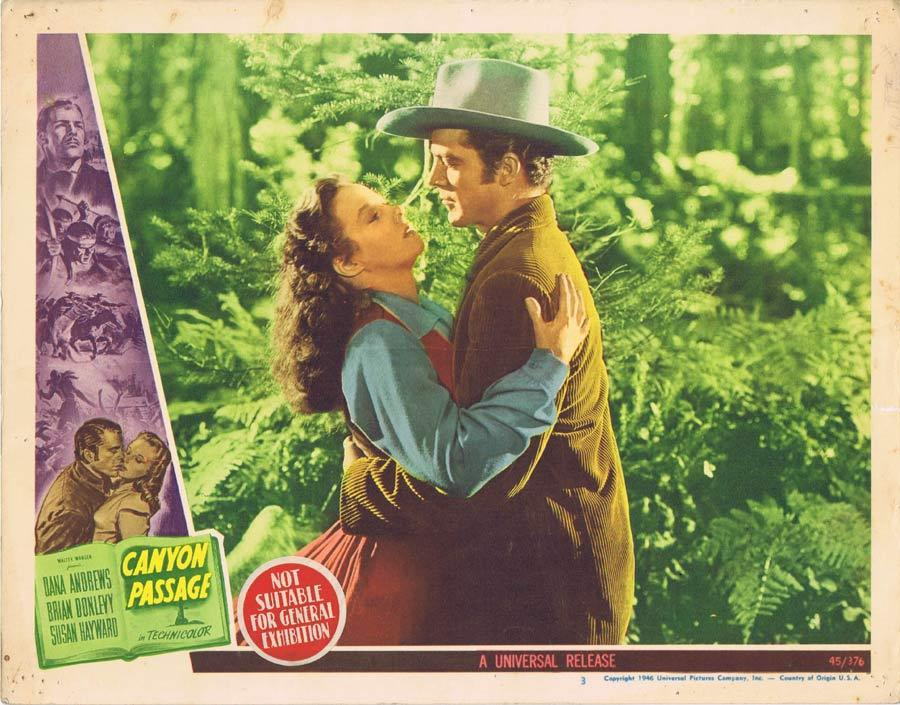 CANYON PASSAGE Lobby Card 1 Dana Andrews Susan Hayward