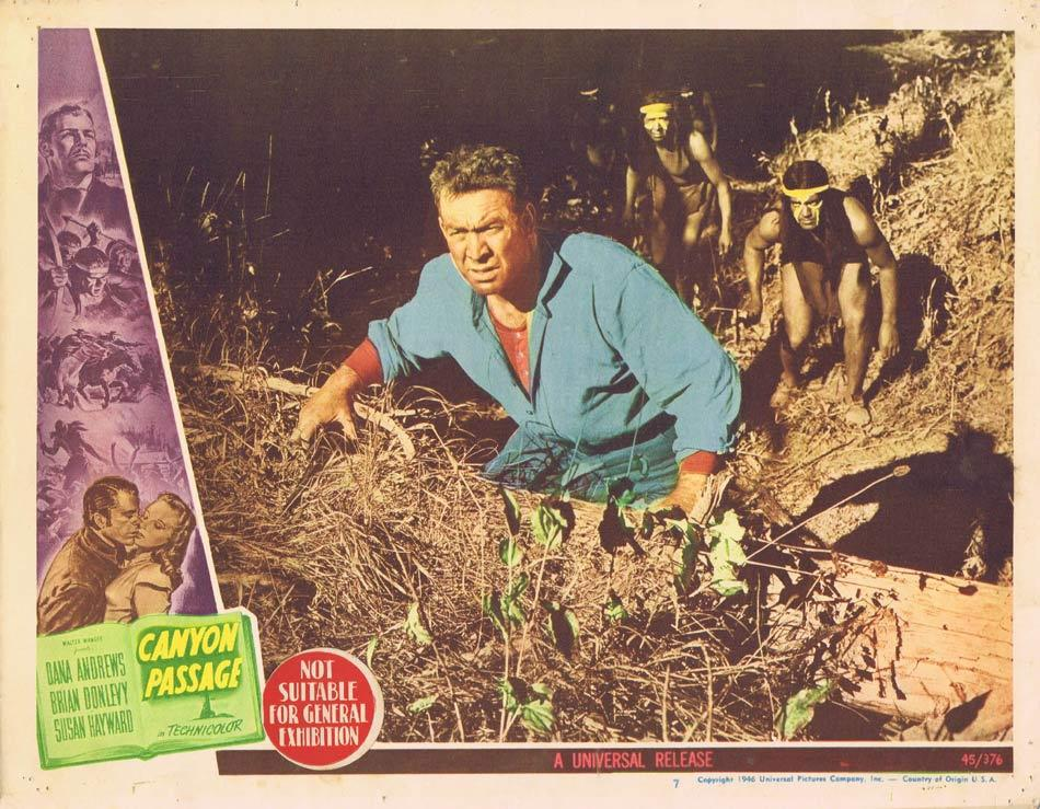 CANYON PASSAGE Lobby Card 1 Western indian ambush