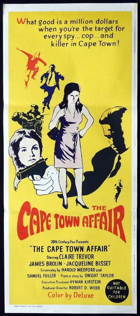 CAPE TOWN AFFAIR Original Daybill Movie Poster Claire Trevor James Brolin
