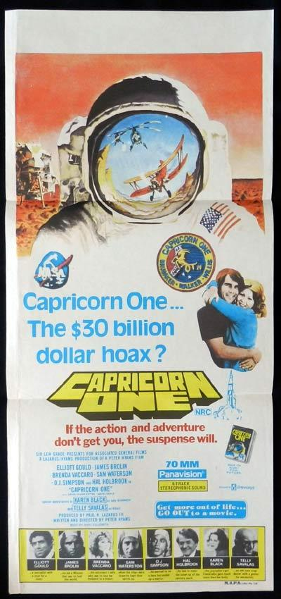 CAPRICORN ONE Daybill Movie Poster Mars Landing