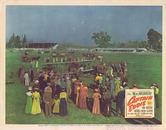 CAPTAIN EDDIE 1945 Lobby Card 3 Fred MacMurray