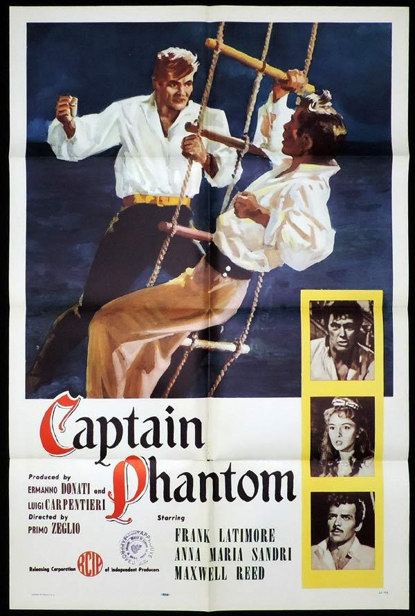 CAPTAIN PHANTOM US One Sheet Movie Poster Frank Latimore