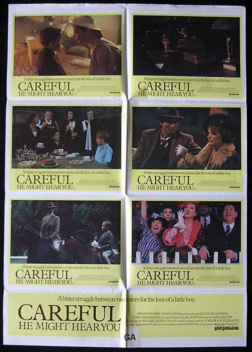 CAREFUL HE MIGHT HEAR YOU 1983 Rare Australian Photo sheet Movie poster