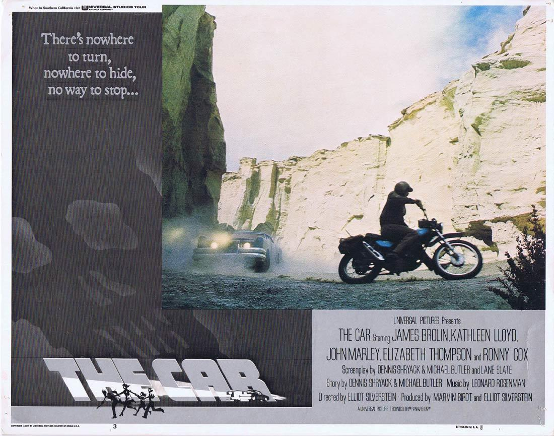 THE CAR Lobby Card 3 James Brolin Kathleen Lloyd Motorcycle Biker