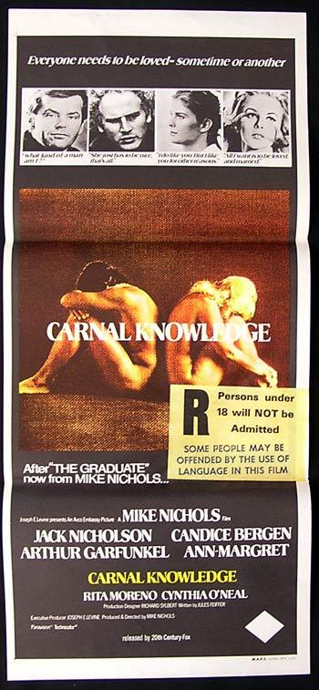 CARNAL KNOWLEDGE Daybill Movie poster 1971 Jack Nicholson