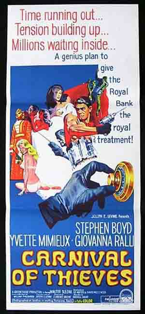 CARNIVAL OF THIEVES '67 Daybill Movie poster Stephen Boyd