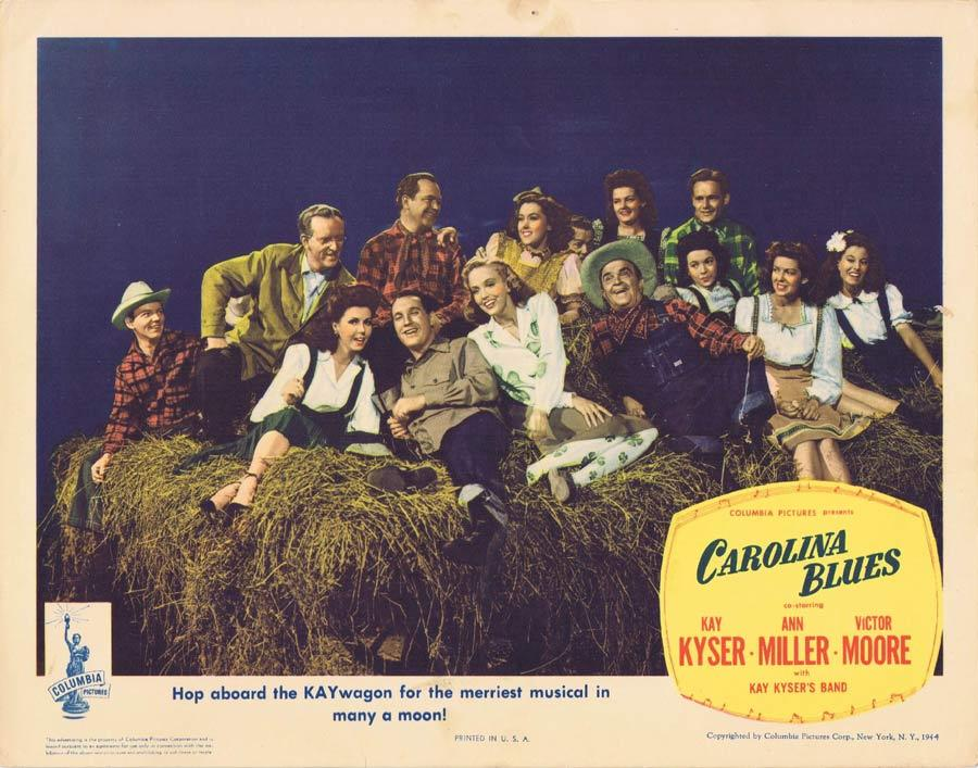 CAROLINA BLUES Lobby Card 1944 Kay Kyser Ann Miller