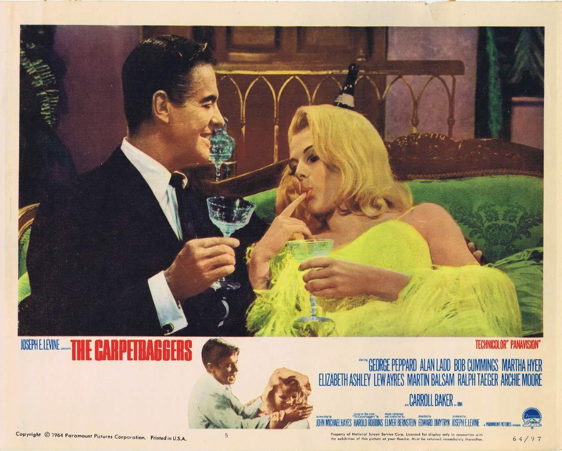 THE CARPETBAGGERS Lobby Card 5 George Peppard Alan Ladd Carroll Baker Robert Cummings