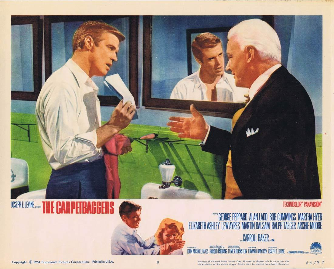 THE CARPETBAGGERS Lobby Card 8 George Peppard Alan Ladd Carroll Baker Robert Cummings