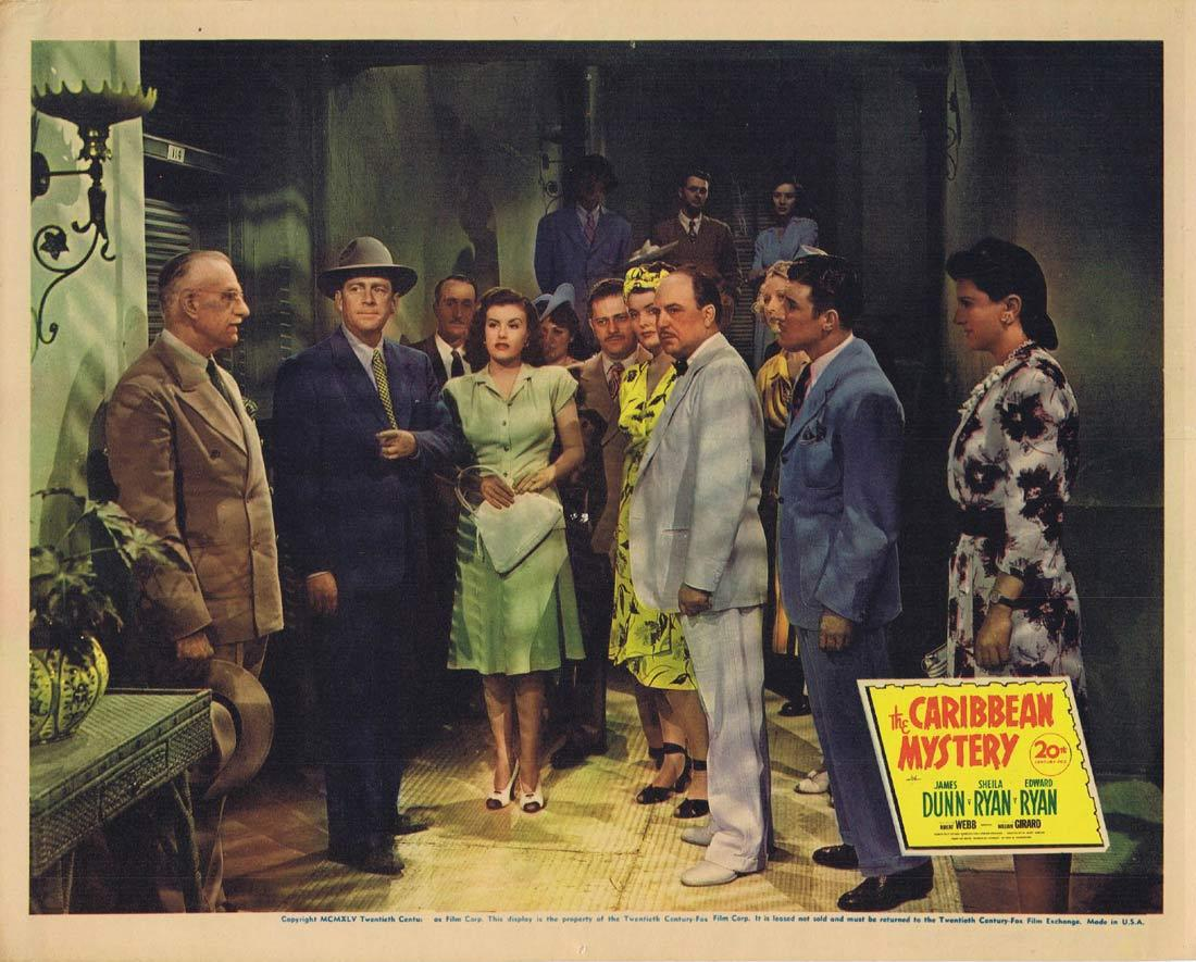 THE CARIBBEAN MYSTERY Lobby Card 2 Sheila Ryan James Dunn Edward Ryan