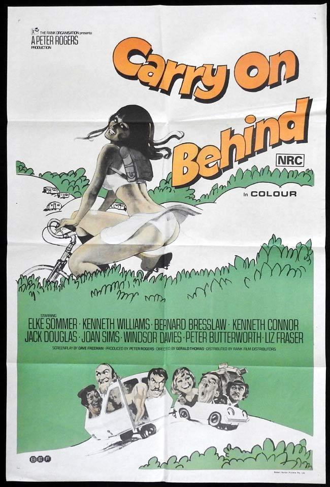 CARRY ON BEHIND Original One sheet Movie Poster Elke Sommer Kenneth Williams Charles Hawtrey