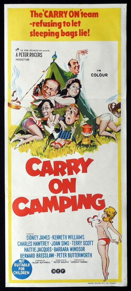 CARRY ON CAMPING Original Daybill Movie Poster Sid James Kenneth Williams
