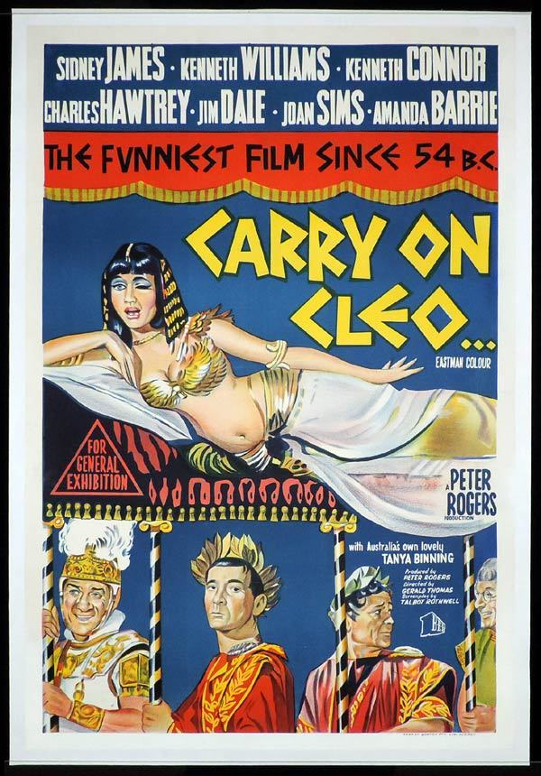 CARRY ON CLEO One sheet Movie poster Linen Backed