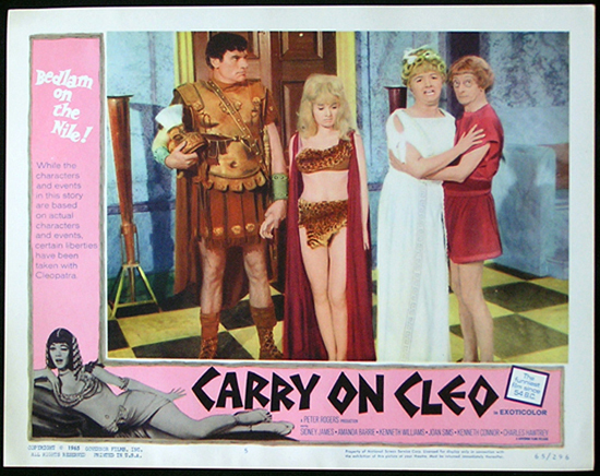 CARRY ON CLEO 1964 Sid James UK Comedy Lobby Card 5