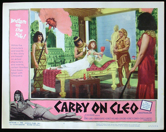 CARRY ON CLEO 1964 Sid James UK Comedy Lobby Card 6