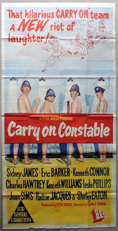 CARRY ON CONSTABLE Original 3 SHEET Movie poster Kenneth Williams