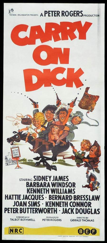 CARRY ON DICK Original One sheet Movie Poster Sid James Barbara Windsor Kenneth Williams